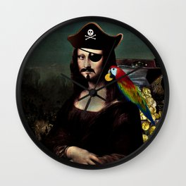 Mona Lisa Pirate Captain Wall Clock