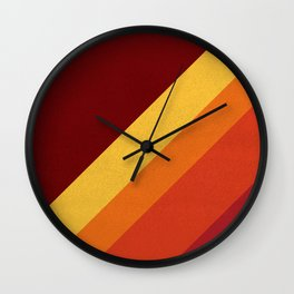 Retro 70s Color Palette II Wall Clock
