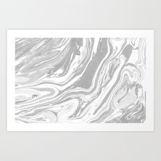 Marble - Grey Wash Art Print