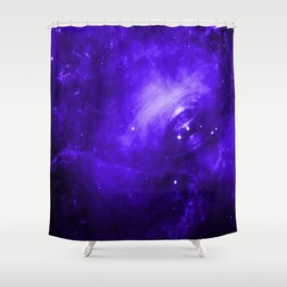 Crab Nebula Ultraviolet Shower Curtain