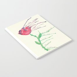 Rose with Emma Goldman quote Notebook