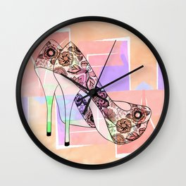 The Right Shoes 2 Wall Clock