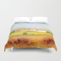 italian Duvet Covers featuring Italian villa by Carl Conway