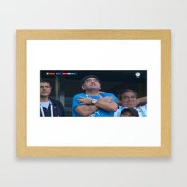 Maradona Death note Framed Art Print
