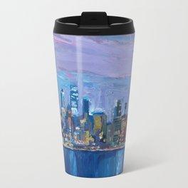 Sydney Skyline with Opera at Dusk Travel Mug