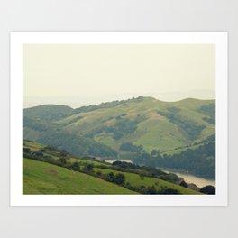 The Hills of Tilden Park Art Print