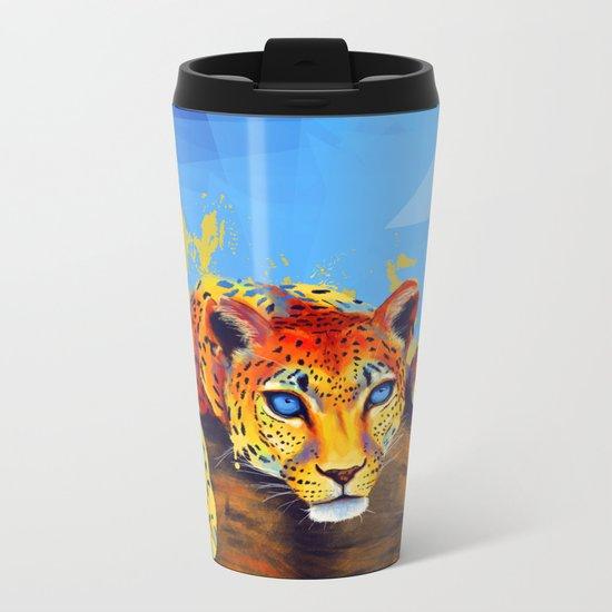 Tree Leopard Metal Travel Mug