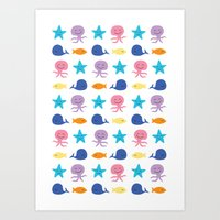 I sea you, Baby (The Essential Patterns of Childhood) Art Print
