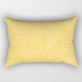 Sunshine Yellow Triangles Drawing Rectangular Pillow