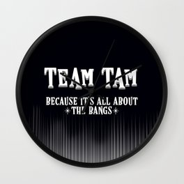 Team Tam Wall Clock