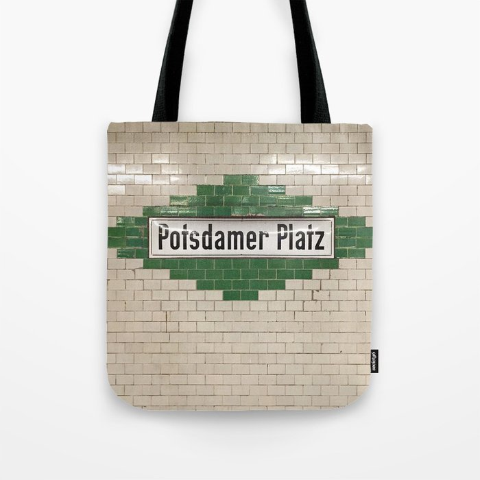 Berlin U-Bahn Memories - Potsdamer Platz Tote Bag