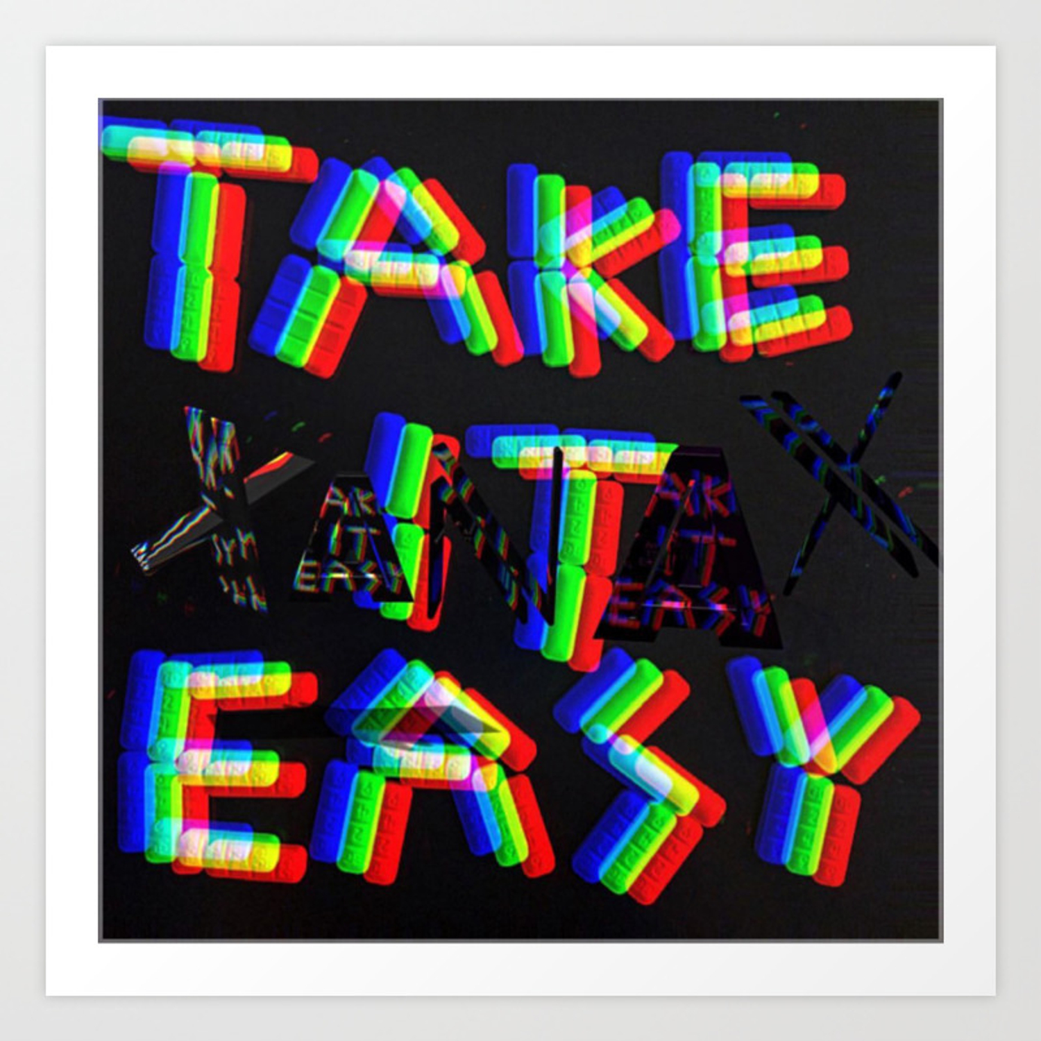 Take It Easy Art Print By Palmtreespromethazine Society6