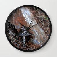 mushroom Wall Clocks featuring Mushroom by aeolia