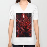 witchcraft V-neck T-shirts featuring Witchcraft by Gyossaith