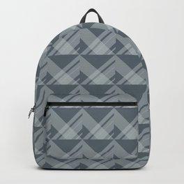 Modern Simple Geometric 5 in Peninsula Blue Backpack
