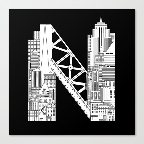N - from NYC Canvas Print