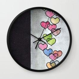 Periscope Hearts Wall Clock