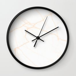 white and gold marble Wall Clock