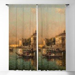 Venice Doge Palace and St. Marks landscape painting by Antoine Bouvard Blackout Curtain