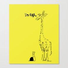 High Giraffe Canvas Print