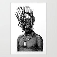 Kifwebe mask Art Print