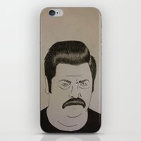 swanson iPhone & iPod Skins featuring Swanson by Clayton Craiger