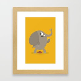 Elephant poop Framed Art Print