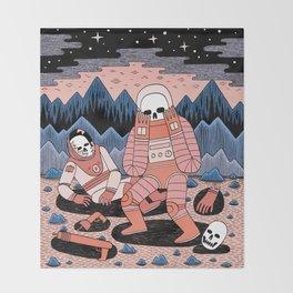 Death in Space II Throw Blanket