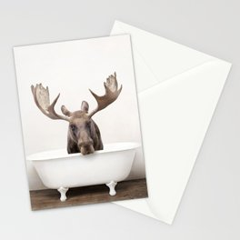 Moose in a Vintage Bathtub (c) Stationery Cards