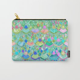Art Deco Watercolor Patchwork Pattern 1 Carry-All Pouch