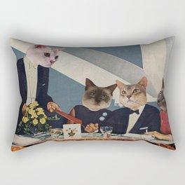 Cats Dine Rectangular Pillow