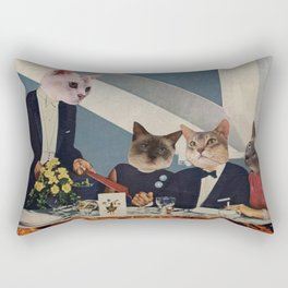 Cats Dine Rectangular Pillow