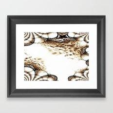 A Sparkling Sand Fractal Framed Art Print