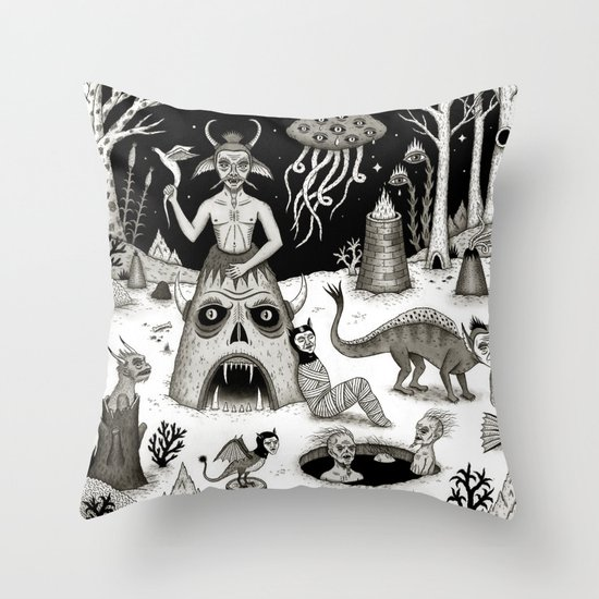 A Grim Hereafter Throw Pillow
