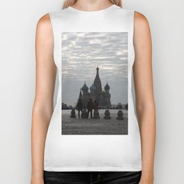 Red Square Moscow Biker Tank