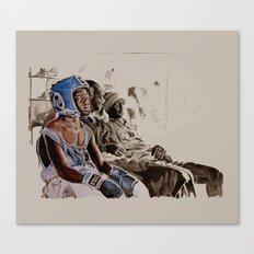 BRONX BOXING BOYS - sepia/blue version Canvas Print