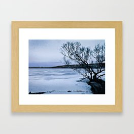 Frozen Lake Framed Art Print