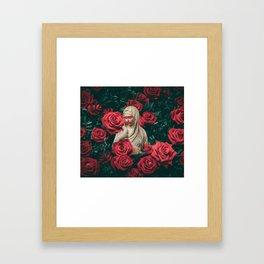 Red feelings Framed Art Print