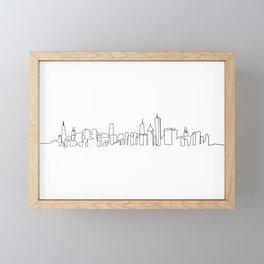 Chicago Skyline Drawing Framed Mini Art Print