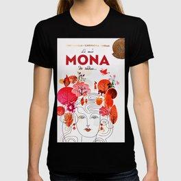 Vintage La Mas Mona de Todas Wine Bottle Label Print T-shirt