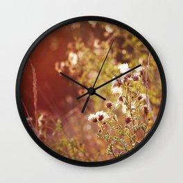 golden dandelions. Wall Clock