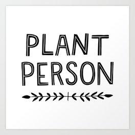 Plant Person Art Print