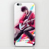 darren criss iPhone & iPod Skins featuring Listen Up Darren Criss by Ines92