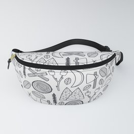 Camping Adventure in Black Fanny Pack