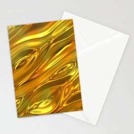 Melted gold pattern Stationery Cards