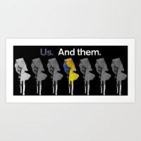 Us and Them 2 Art Print