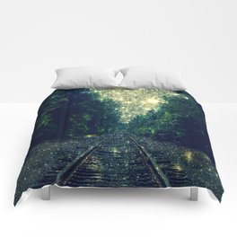 Dreamy Train Tracks Comforters