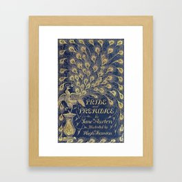 Pride and Prejudice by Jane Austen Vintage Peacock Book Cover Framed Art Print