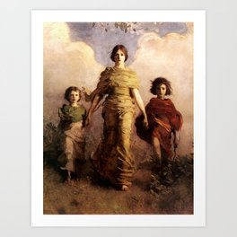 Mary, Jesus and John the Baptist by Abbott Handerson Thayer Art Print