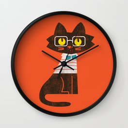 Fitz - Preppy cat Wall Clock
